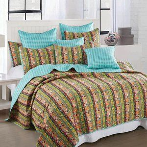 King Size 3pc Quilt Set Nomad Vibes